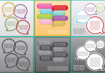 Bubble Speech Callout Templates - vector gratuit #384153