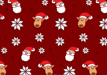 Christmas Seamless Background - vector #384273 gratis