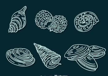 Shell Line Icons Vector - бесплатный vector #384313