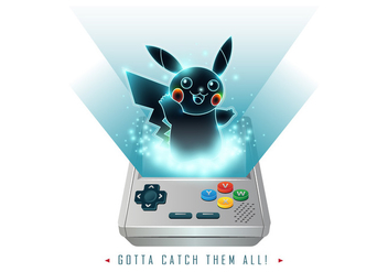 Pokemon Game Boy Vector - vector gratuit #384353