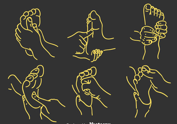 Foot Reflexology Vector - Free vector #384383