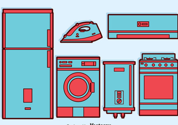 Home Appliance Vector Set - бесплатный vector #384433