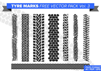 Tire Marks Free Vector Pack Vol. 3 - бесплатный vector #384443