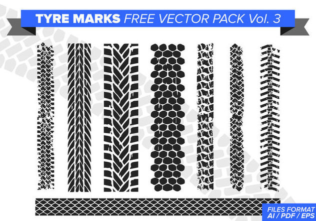 Tire Marks Free Vector Pack Vol. 3 - Kostenloses vector #384443