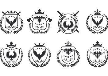 Set Of Blason Vector - бесплатный vector #384553
