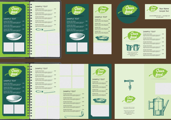 Green Menu Templates - vector gratuit #384613