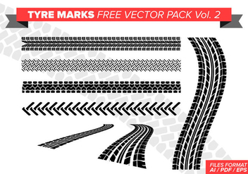 Tire Marks Free Vector Pack Vol. 2 - Kostenloses vector #384623