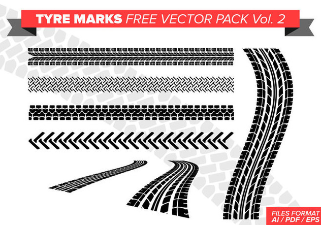 Tire Marks Free Vector Pack Vol. 2 - vector gratuit #384623