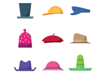 Free Hats Vector - Free vector #384693
