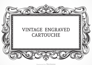 Free Vector Vintage Engraved Cartouche - Free vector #384733