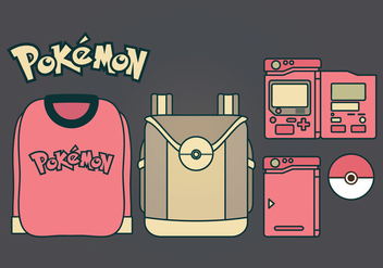 Vector Pokemon Accessories Set - бесплатный vector #384743