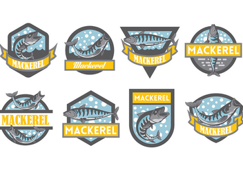 Free Mackerel Icons Vector - Free vector #384773