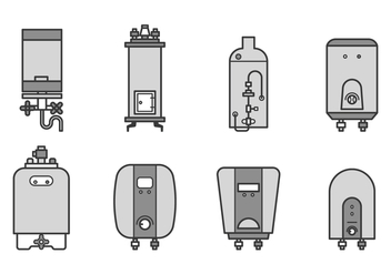 Free Water Heater Vector - бесплатный vector #384863