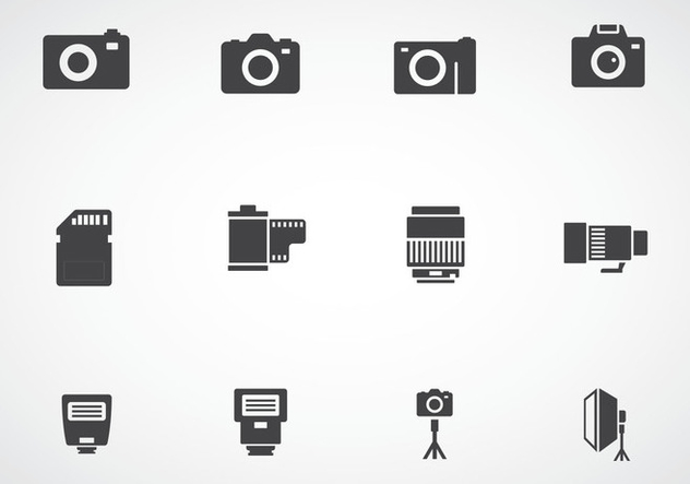 Photography Icons - vector gratuit #384893