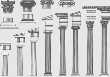 Roman Pillar Evolution - бесплатный vector #384993
