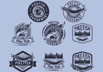 Pike Tournament Badge - vector gratuit #385043