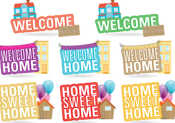 Welcome Home Titles - Free vector #385243
