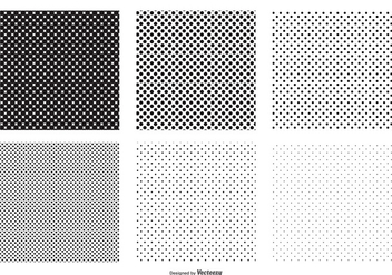 Seamless Polka Dot Vector Patterns - Kostenloses vector #385273