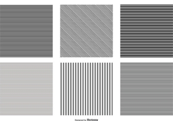 Seamless Pinstripe Vector Patterns - Free vector #385283