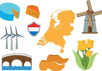 Free Netherlands Map Icons Vector - vector gratuit #385383