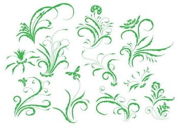 Free Vintage Floral Ornament Vector - Free vector #385403