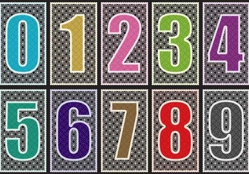 Laser Cut Numbers - vector gratuit #385533