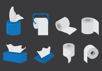 Vector Set Of Wipes Paper - vector gratuit #385563