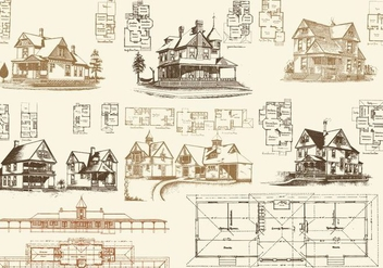 Floor Plans And Houses - Kostenloses vector #385623
