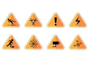 Free Caution Sign Icon Vector - vector gratuit #385703