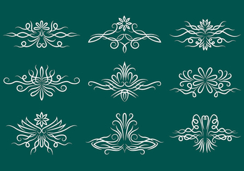 Pinstripe Scrollwork Vector Icons - Free vector #385783