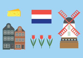 Elements from Holland - Free vector #385803