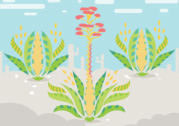Maguey Illustration Vector - Kostenloses vector #385833