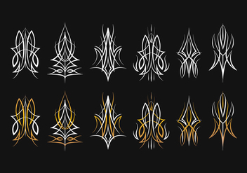 Pinstripes Design Collection - vector #385853 gratis