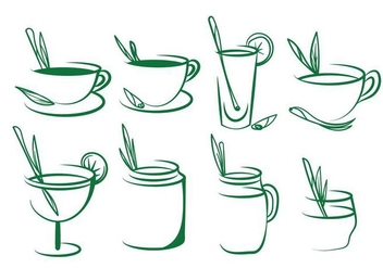 Free Lemongrass Tea Vector Set - vector gratuit #385983
