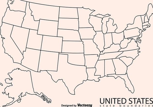 Blank Outline Map Of Usa Free Vector Download 386093   CannyPic