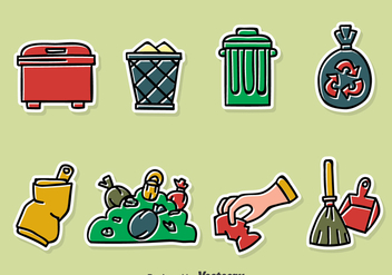 Hand Drawn Garbage Vector Set - Free vector #386103