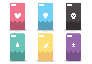 Phone Case Pattern Vector Set - Free vector #386173