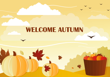 Free Welcome Vector Autumn - Kostenloses vector #386183