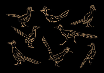 Roadrunner Line Art Vector - бесплатный vector #386203