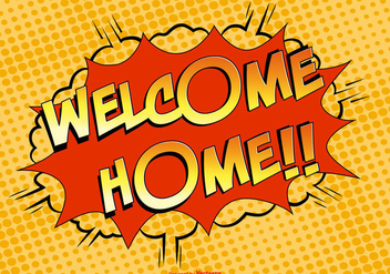 Welcome Home Comic Illustration - бесплатный vector #386223