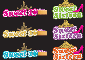Sweet 16 Shadow Titles - vector gratuit #386273