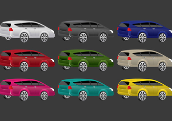 Colorful Prius Vector Icons - Kostenloses vector #386283