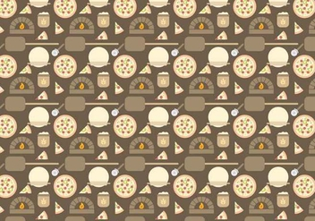 Free Pizza Oven Pattern Vector - Free vector #386293