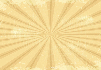 Retro Grunge Sunburst Background - Free vector #386383