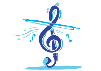 Blue Violin Key - vector #386403 gratis