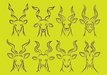 Kudu icons - Free vector #386423