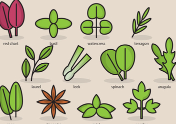 Cute Plant Icons - vector #386443 gratis