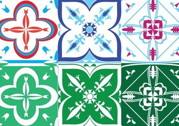 Portuguese Tile Set - Free vector #386533