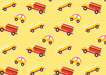 Cute Transportation Pattern - Free vector #386713