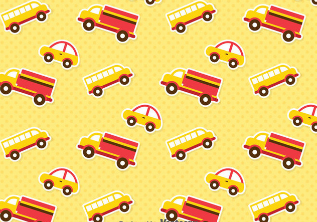 Cute Transportation Pattern - vector #386713 gratis